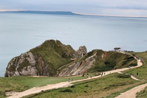 Jurassic Coast - Durdle Door with view of Portland