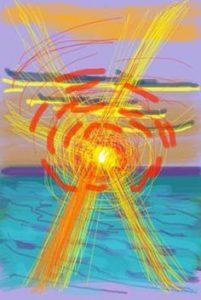 (c) David Hockney - iPhone painting