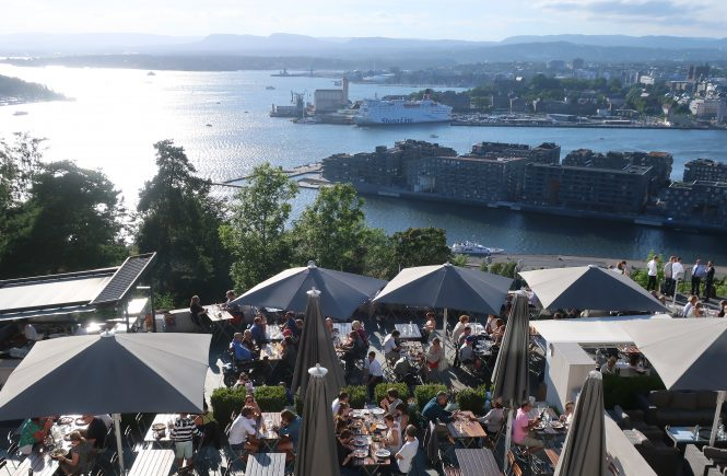 View from Oslo's Ekeberg Restaurant